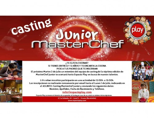 CASTING MASTERCHEF JUNIOR